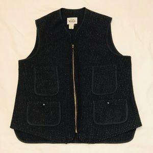 VTG Woolrich Wool Blend Tweed Vest Sz 40